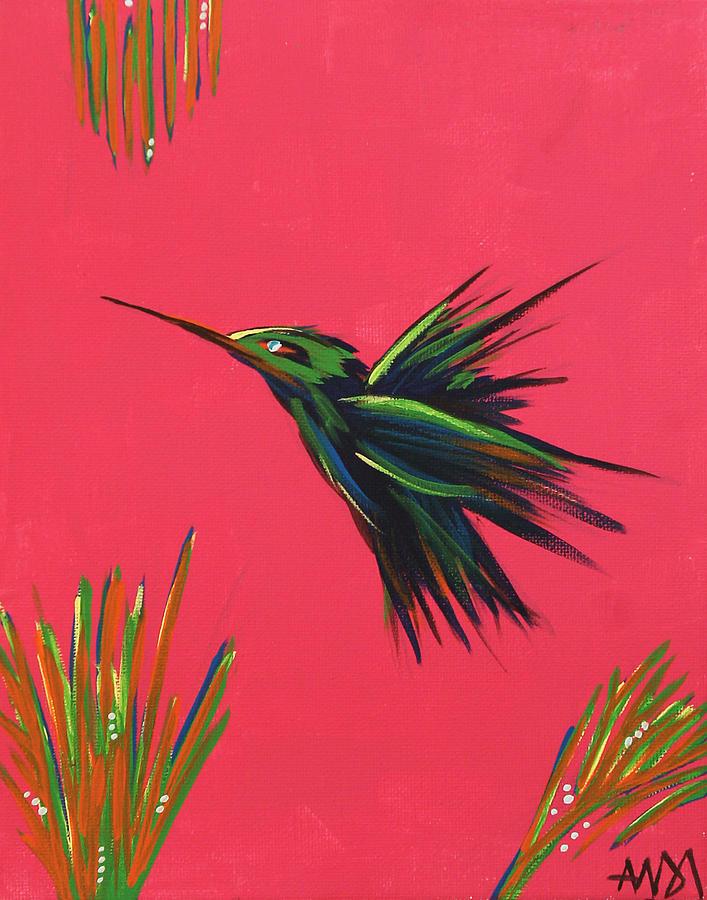 Hummingbird Painting - Hummingbird by Andi Kozak