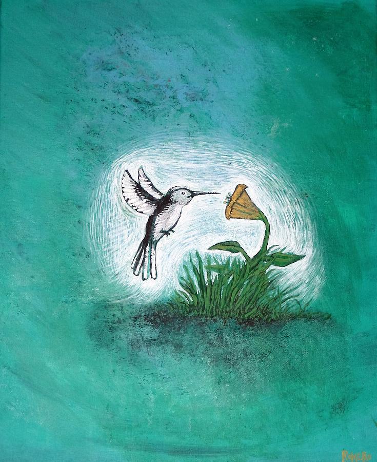 Hummingbird Painting - Hummingbird by Antonio Romero