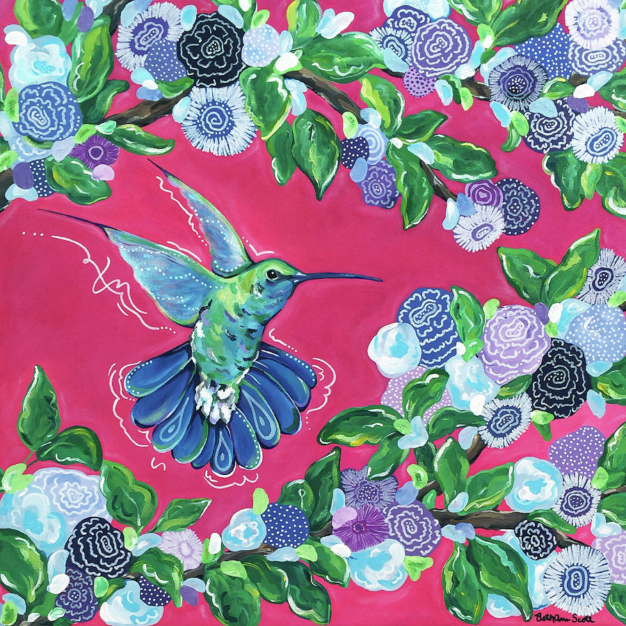 Hummingbird Painting - Hummingbird by Beth Ann Scott