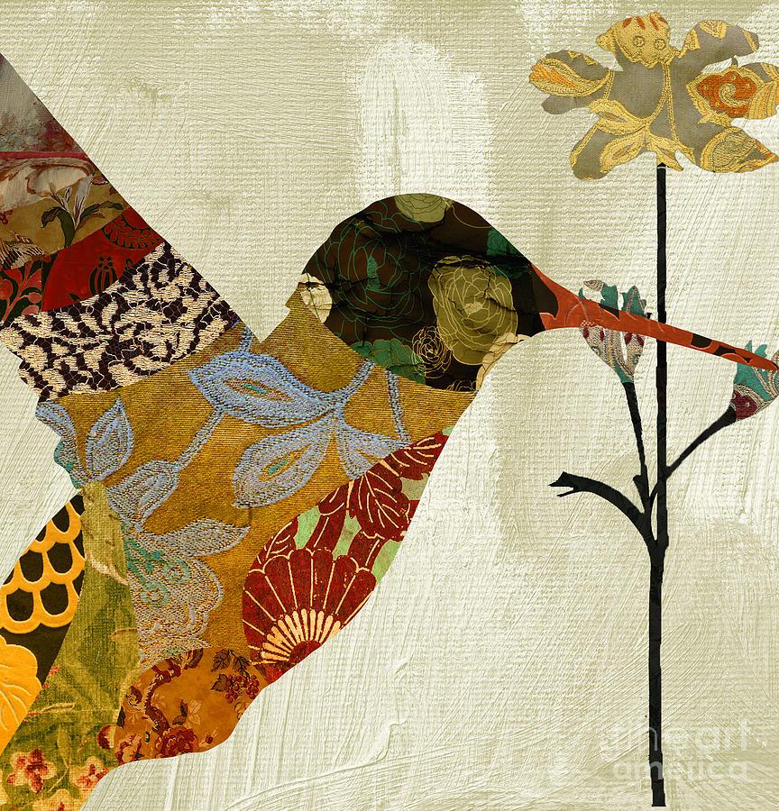 Hummingbird Brocade IIi Painting