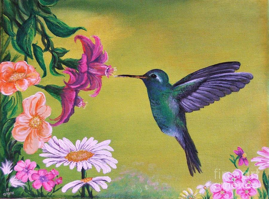 Hummingbird For Grandma Painting Painting By Cj