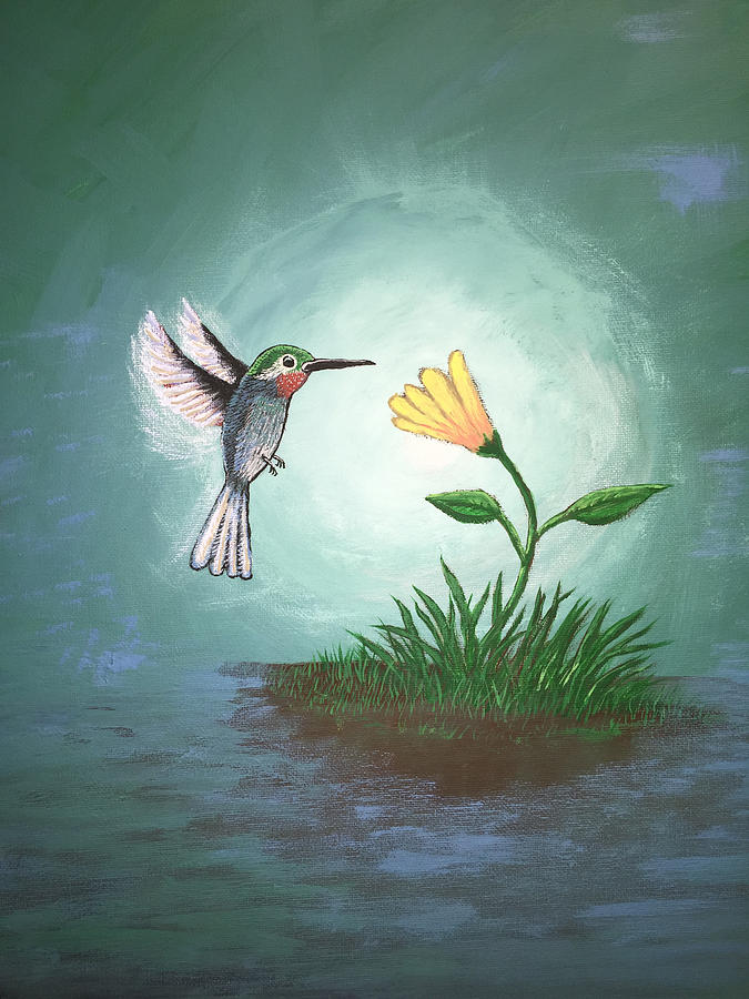 Hummingbird Painting - Hummingbird II by Antonio Romero