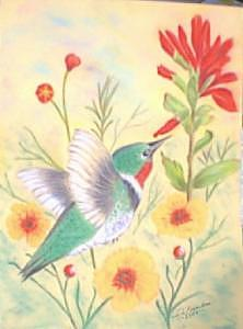 Hummingbird In Flight Drawing by Doris Burnham