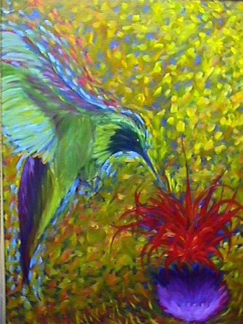 Hummingbird Painting - Hummingbird by Janine Shideler