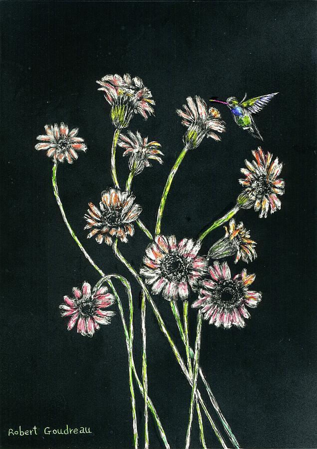 Hummingbird Painting - Hummingbird by Robert Goudreau
