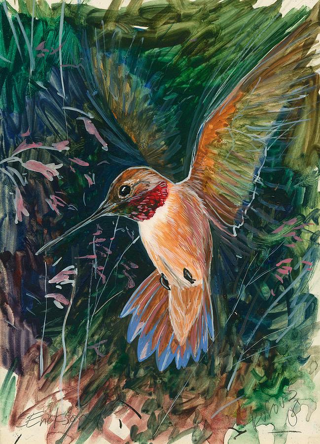 Hummingbird Painting - Hummingbird by Shari Erickson