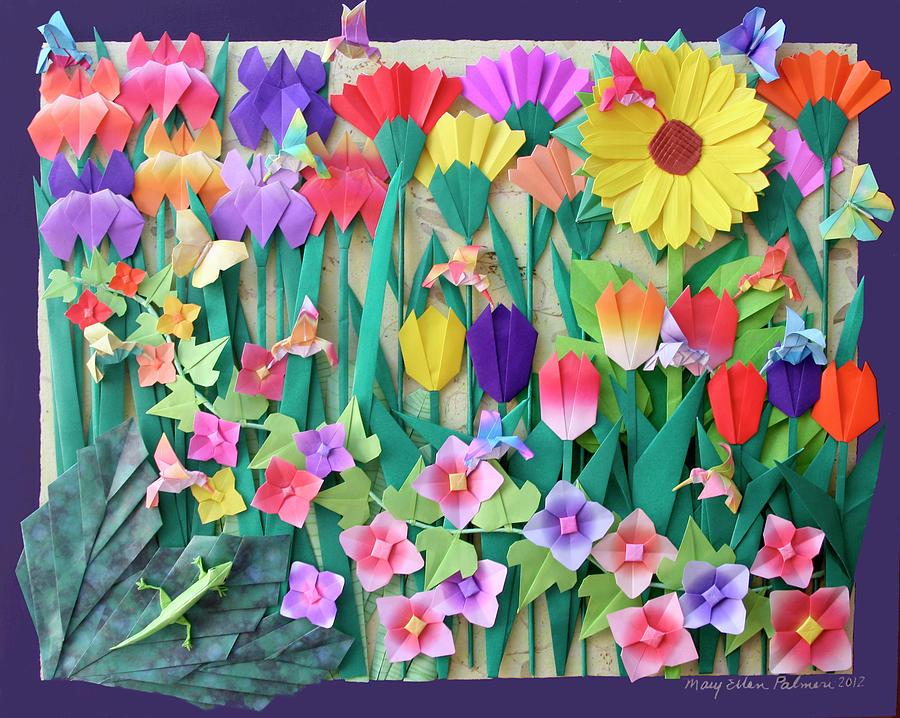 Floral Mixed Media - Hummingbirds Delight By Mary Ellen Palmeri by Lyric Artists