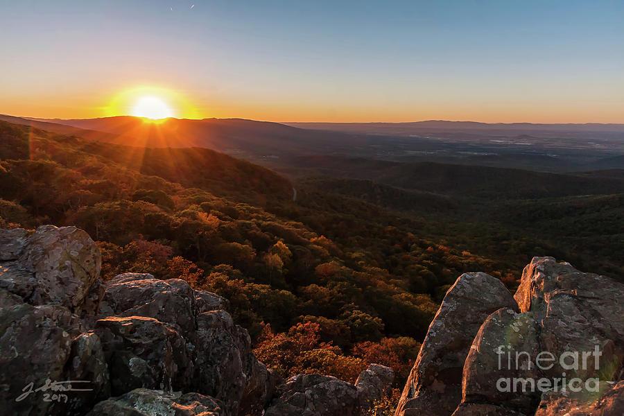 Humpback Rocks Sunset In Fall Photograph by Jeffrey Stone