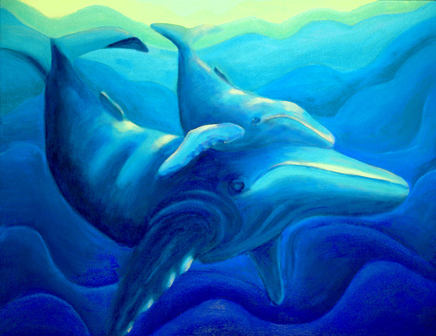 Seascape Painting - Humpback With Calf by Lynn Soehner