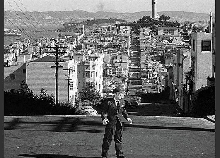 Humphrey Bogart Film Noir Dark Passage Telegraph Hill And Coit Tower San Francisco 1947 Photograph by David Lee Guss