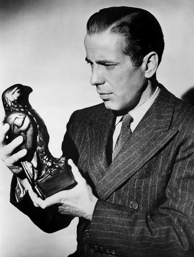 Humphrey Bogart Holding Falcon The Maltese Falcon 1941  Photograph by David Lee Guss