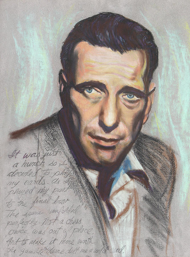 Movie Star Painting - Humphrey Bogart  Not A Chess Piece Was Out Of Place by Kean Butterfield