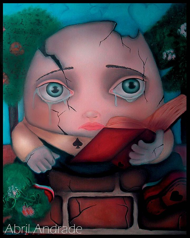 Alice In Wonderland Painting - Humpty Dumpty by  Abril Andrade Griffith
