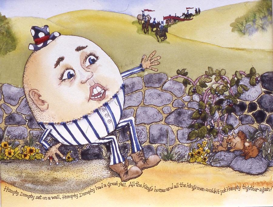 Humpty Dumpty Painting - Humpty Dumpty by Victoria Heryet