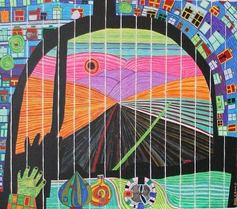 hundertwasser the road back from you to me she carries all