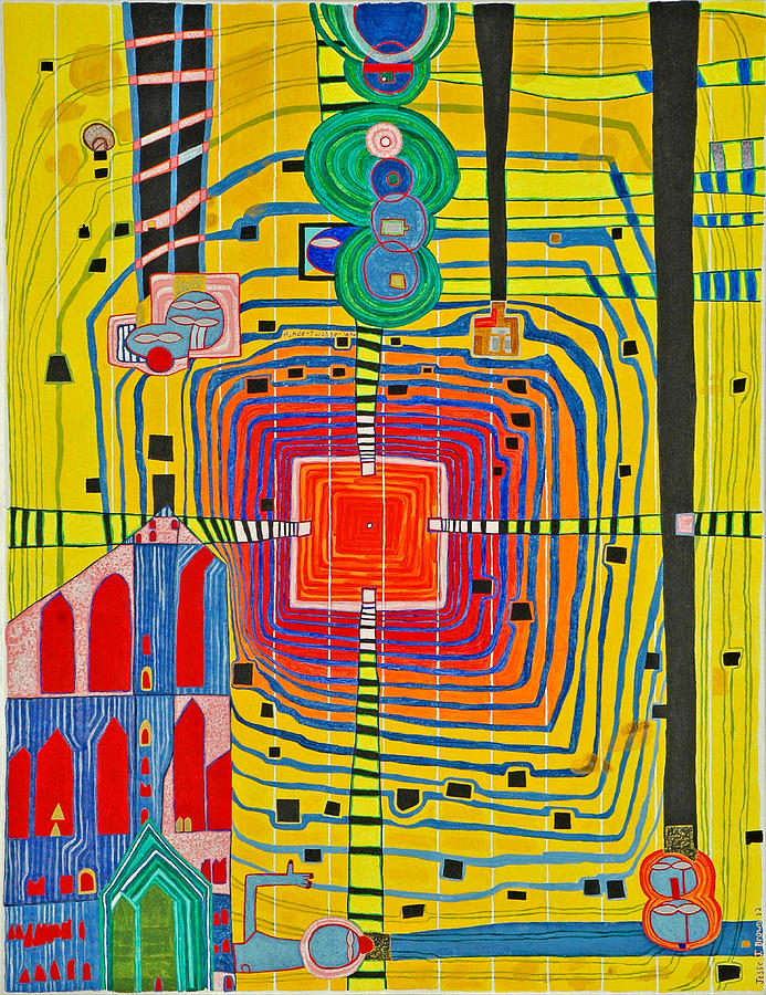 Hundertwassers Close Up Of Infinity Tagores Sun Painting