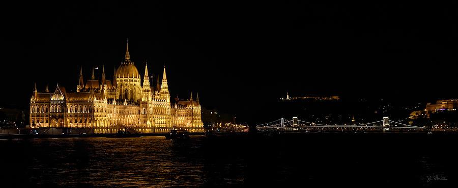 Hungarian Parliament and Chain Bridge by Joe Bonita