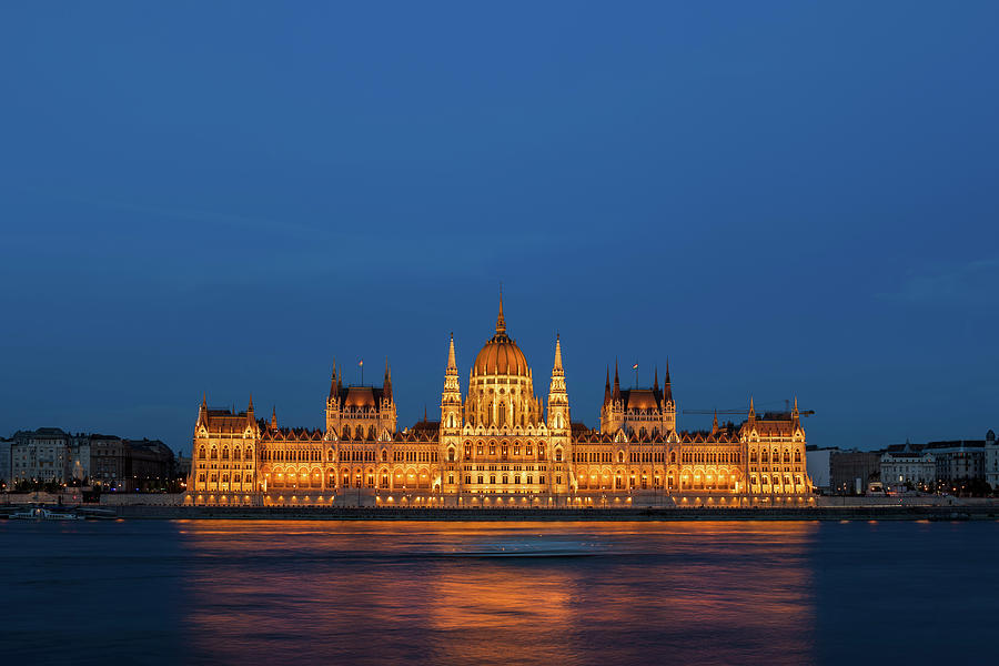 Budapest Photograph - Hungarian Parliament Building At Night In Budapest by Artur Bogacki