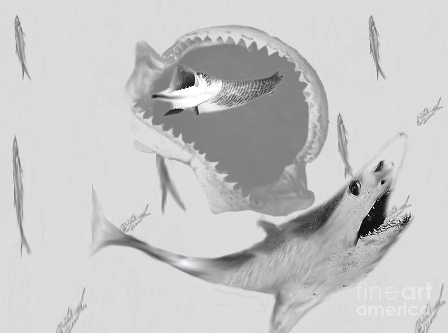 Fish Painting - Hungary by Belinda Threeths