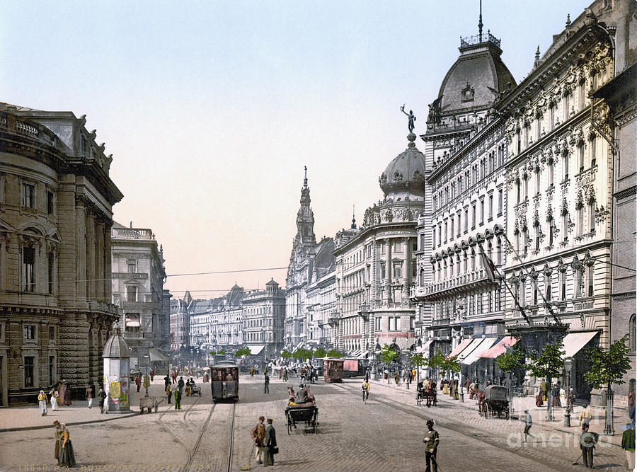 1895 Photograph - Hungary: Budapest, C1895 by Granger