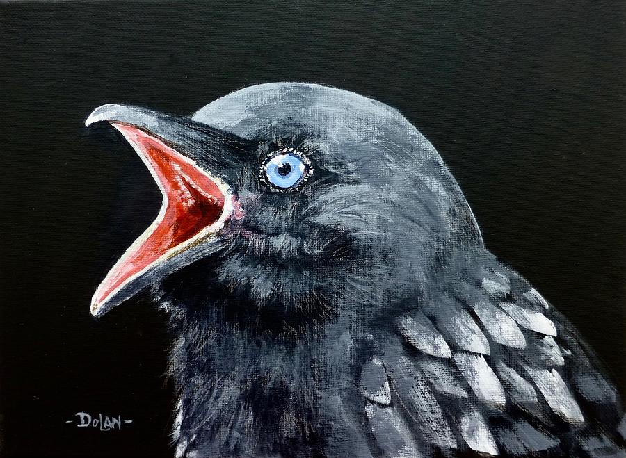 Hungry Baby Raven by Pat Dolan