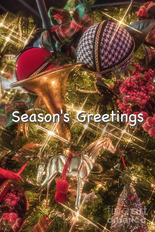 Christmas Photograph - Hunt Club Greetings by Susan Grube