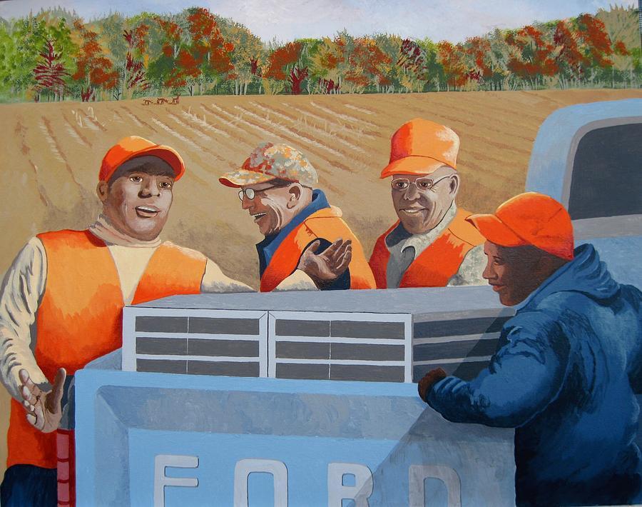 Figurative Painting - Hunt Club by Jennifer  Donald