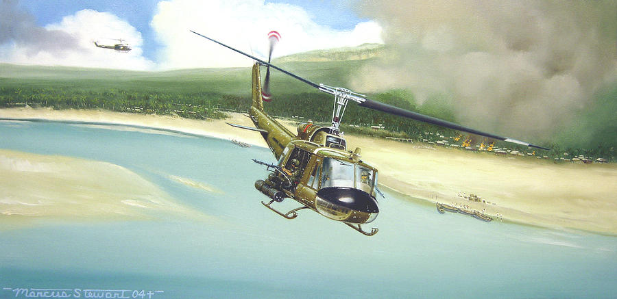 Military Painting - Hunter Hueys by Marc Stewart