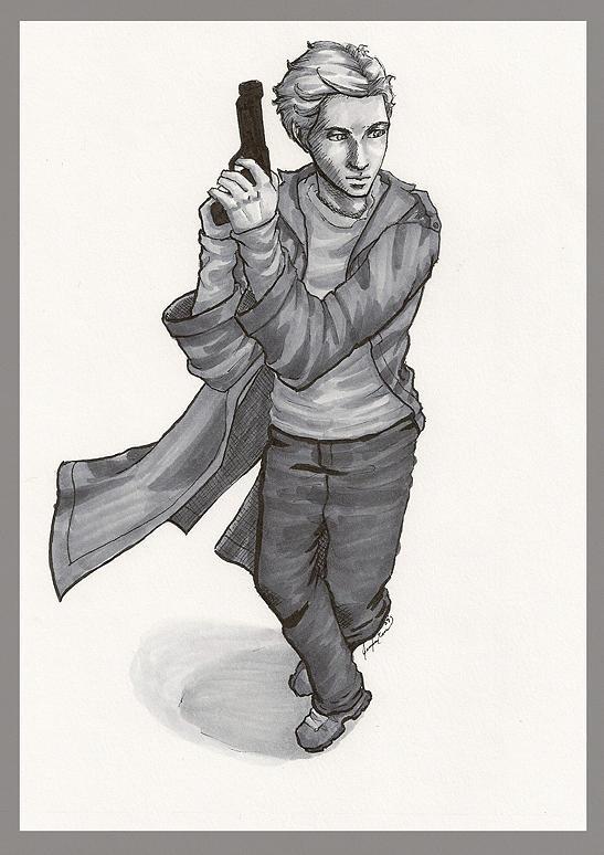 Hunter Drawing by Jennifer Evans