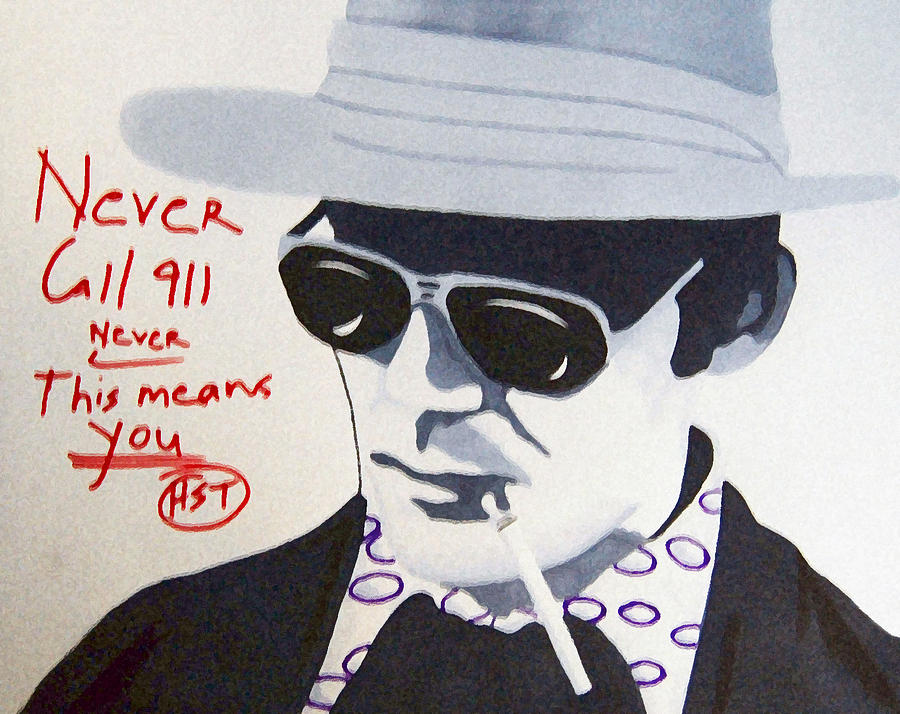 Hunter S Thompson Drawing - Hunter S Thompson by Michael Ringwalt