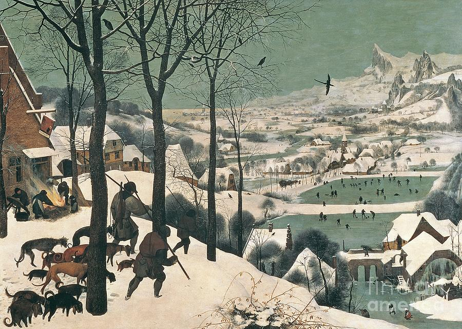 Hunters Painting - Hunters In The Snow by Pieter the Elder Bruegel