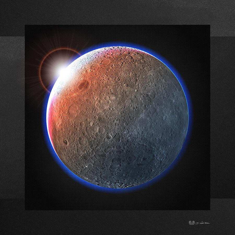 Space Digital Art - Hunters Moon - The Dark Side Of The Moon by Serge Averbukh