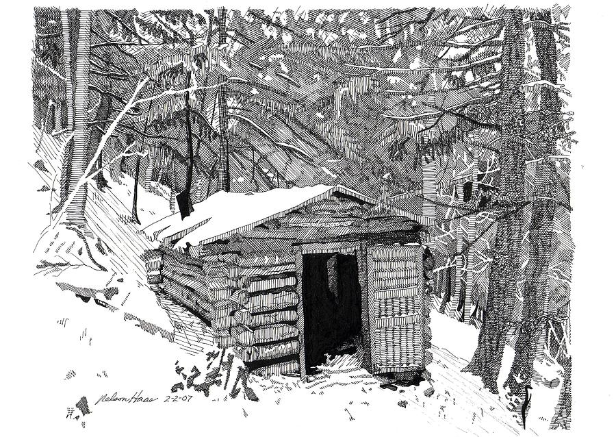 Hunting Drawing - Hunting Shanty by Nelson Haas