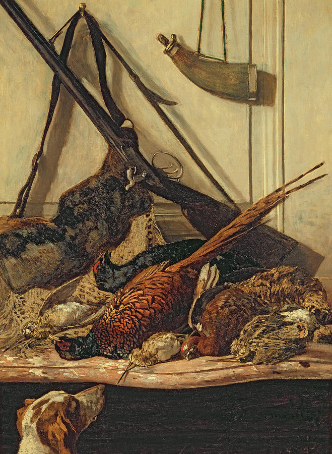 Trophy Painting - Hunting Trophies by Claude Monet