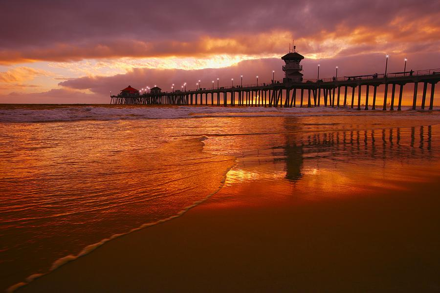 Image result for huntington beach sunset