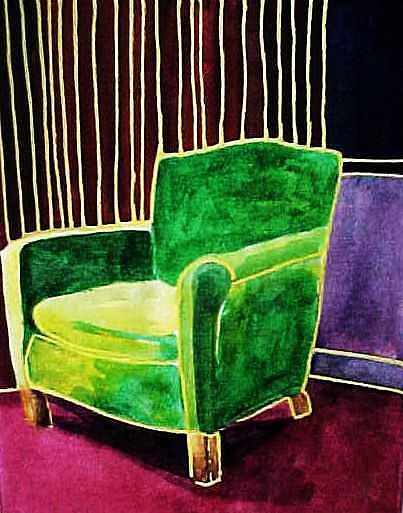 Furniture Painting - Huntington Beach chair by Kitty Schwartz