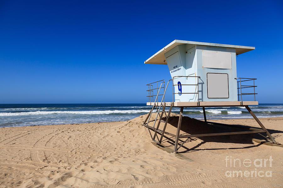 Huntington Beach Lifeguard Tower Photo Photograph By Paul Velgos