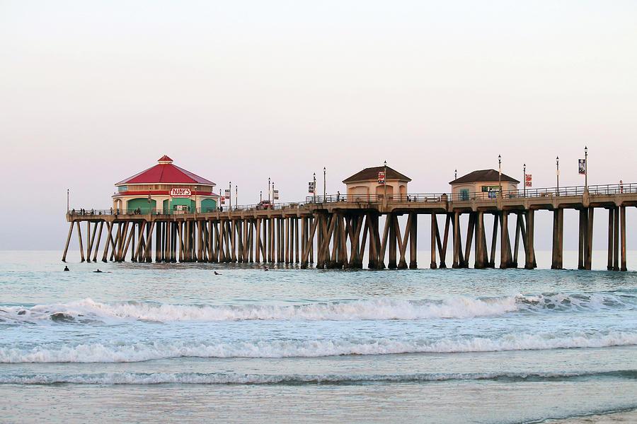 Huntington Beach Photograph - Huntington Beach Morning by Art Block Collections