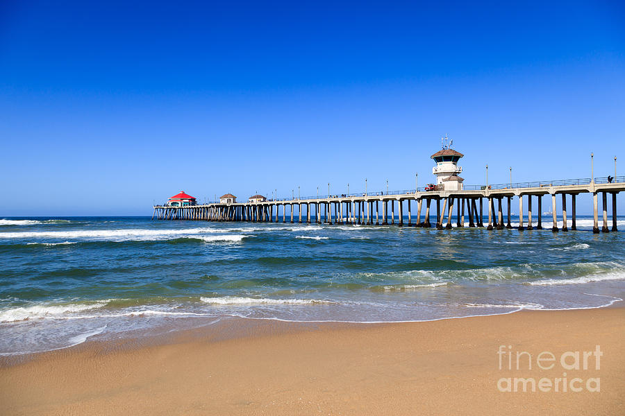 America Photograph - Huntington Beach Pier In Orange County California by Paul Velgos