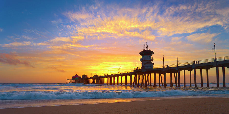 Huntington Beach Pier Panorama Photograph By Brian Knott Photography
