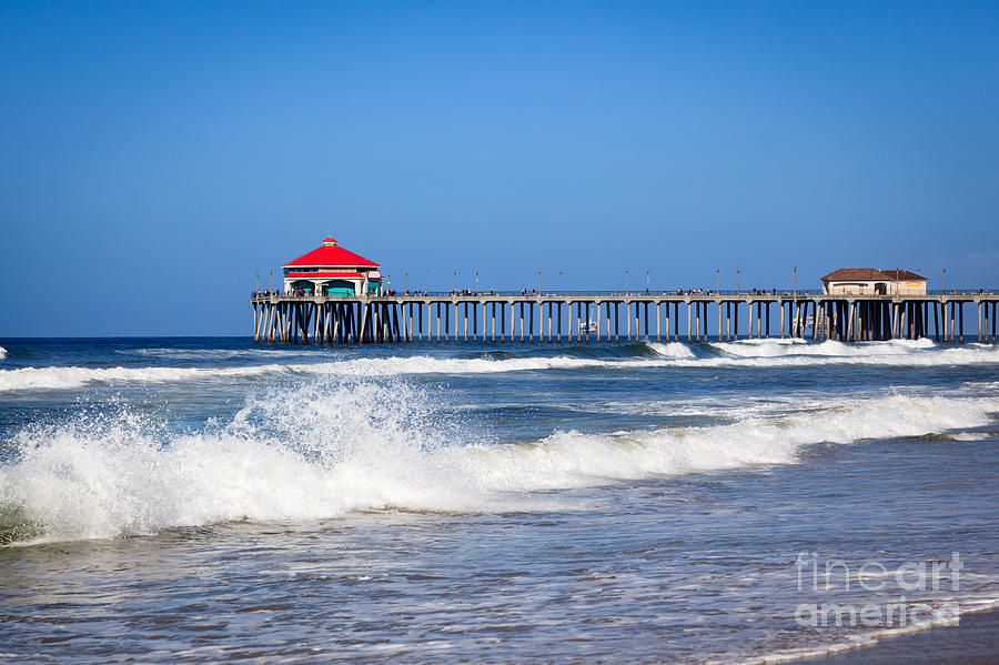 America Photograph - Huntington Beach Pier Photo by Paul Velgos