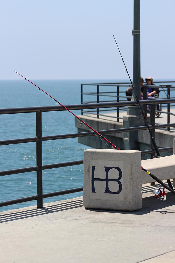Huntington Beach Pier Scene by Colleen Cornelius