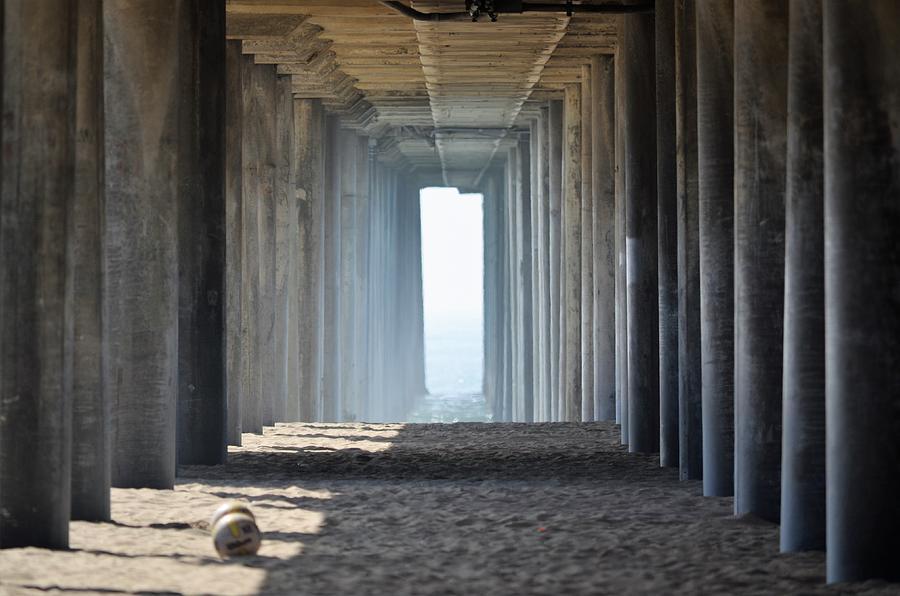 Huntington Beach Photograph - Huntington Beach Pier by Scott Ivens