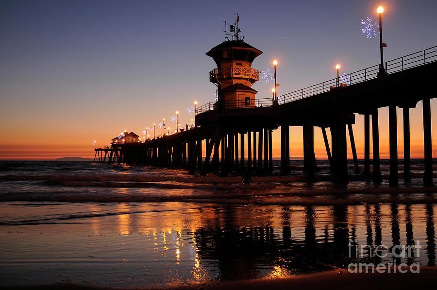 Pier Photograph - Huntington Beach Pier by Timothy OLeary