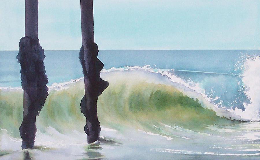 Surf Painting - Huntington Pier by Philip Fleischer