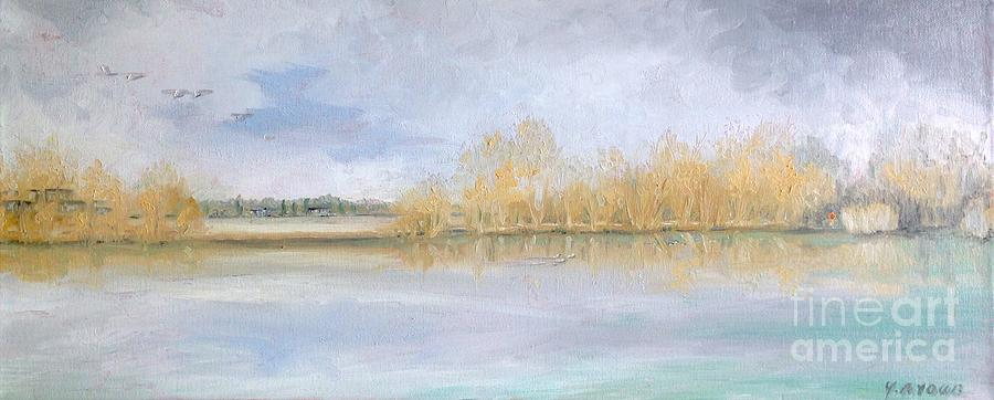 Huntsmans Lake Lechlade by Yvonne Ayoub