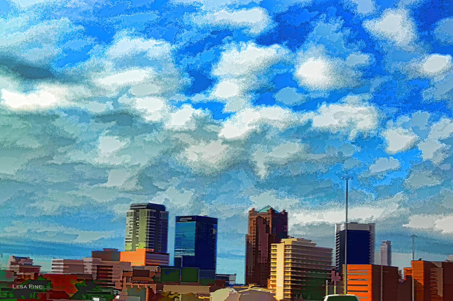 Huntsville Alabama Skyline Abstract Art by Lesa Fine