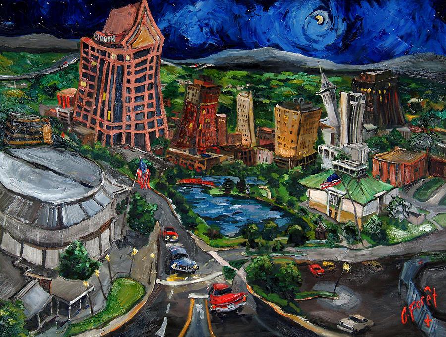 Huntsville Painting - Huntsville Skyline by Carole Foret