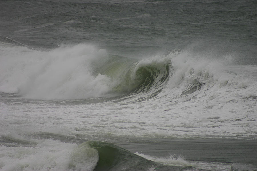 Hurricane Photograph - Hurricane Earl Double Wave by Kimberly Klein