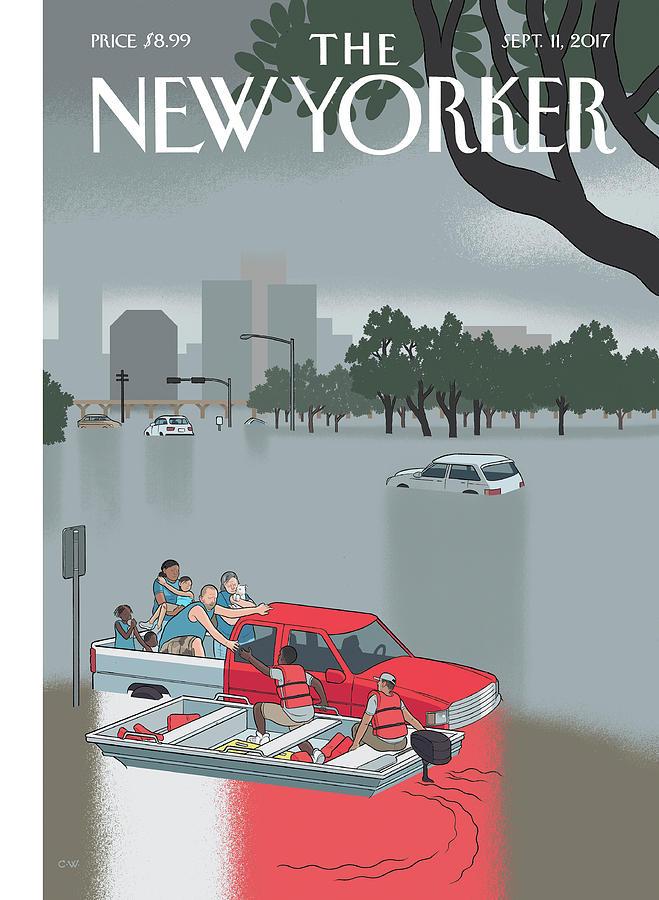 Hurricane Harvey Digital Art by Chris Ware